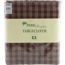 """Sturbridge Wine Red Plaid Tablecloth 60"""" x 84"""" Park Designs Country Primitive"""