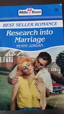 Mills and Boon Books Vintage - RESEARCH INTO MARRIAGE - penny jordan