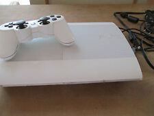 Sony Playstation 3 Super Slim 500 Go blanc (RARE) CECH-4204A avec manette blanch