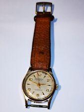 INGERSOLL Shockproof Vintage Men's Mechanical Gold Plated Wristwatch 5 Jewels