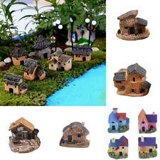 Cy_ Mini Fairy Garden Miniature House Fence Craft DIY Micro Landscape Decor Gift