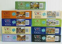 9 1000 Piece Charles Wysocki Buffalo Jigsaw Puzzles Lot with Small Posters