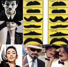 12pcs Stylish Costume Funny Party Self Adhesive Fake Moustache Mustaches Black