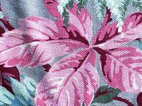 SALE Flamingo Pink & Aqua Barkcloth Vintage Fabric Drape Curtain Miami Beach 30s