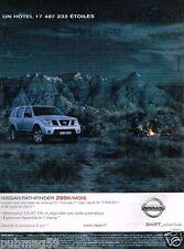 Publicité advertising 2005 Nissan pathfinder