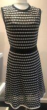 M MISSONI Women's Dress Sz US 8 IT 44 Zigzag Black/White/Metal Accent