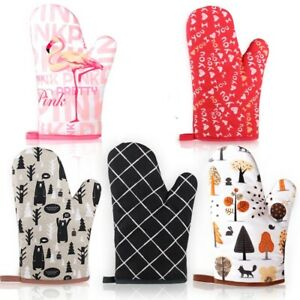 Large size Oven mitts gloves kitchen heatproof Microwave Baking BBQ