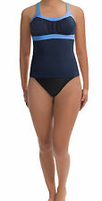 New with Tags - $150 Miraclesuit Navy/Black Colorblock Banded Tankini Size 10