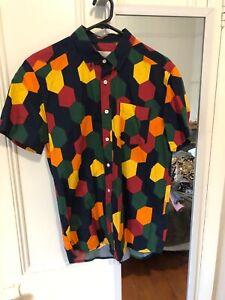 Mens Casual Short Sleeve Shirt