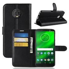 Funda para el Motorola Moto G6 Plus Libro Cover Wallet Case-s bolsa Negro