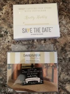(2) Packs Of 24 Wedding Table Hashtag Cards David Tutera Save The Date Brands