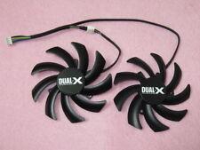 New 85mm Sapphire XFX AMD HD7970 HD7950 R9 280X 270X Dual Fan Replacement R161b
