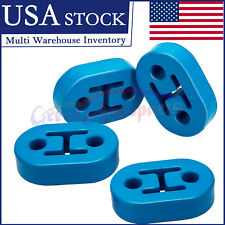 4PCS 2 Hole 12MM Universal Car Polyurethane Rubber Exhaust Muffler Hanger blue