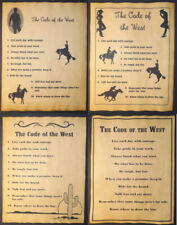 Code of the West Poster, Choice of 4 Designs 2 sizes cowboy cowgirl  old western