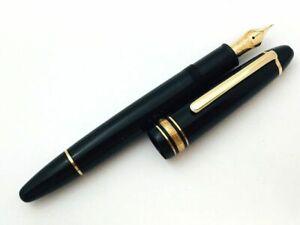 Y5640  MONTBLANC MEISTERSTUCK 146 Fountain Pen* Black 14K Gold 585 Piston