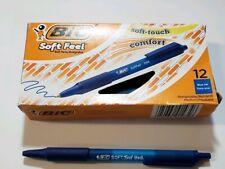 Box Of 12, Bic Soft Feel Scsm11, Blue Ink, 1.0 mm Medium Point Ball Pens