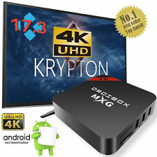 2017 MXG Quad Core Android TV Box 4K K 17.3 Ultra HD Pro-Media Player Streamer