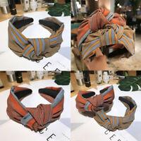 Twist Hairband Tie Accessories Knot Women's Band Fabric Hair Headband Hoop Wide