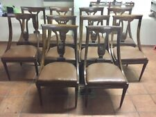 Serie di 10 sedie a Gondolle in noce - restaurate
