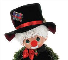 "Precious Moments 12"" Happy Hobodays to You Vinyl Clown Christmas Wreath Doll New"
