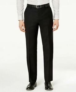 Michael Kors Classic-Fit Airsoft Stretch Solid Dress Pants 36 x 30 Black