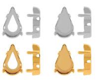 Original SWAROVSKI Strass Steine Fassungen für 4328 XILION Birne Kristallen