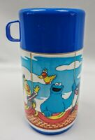 Sesame Street Aladdin Thermos Blue Hot Air Balloon Basket Vintage