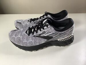 NEW Brooks Adrenaline GTS 19 Men's Running Shoes - Black/White - Sz 12