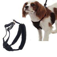 "10085 Yuppie Puppy Black Anti Pull Dog Harness Medium Fits Necks 12""-17"""