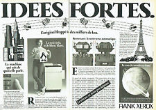 PUBLICITE ADVERTISING  016  1981  RANK-XEROX  photocopieur (2p)  Idées Fortes