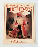 The Country Club Holidays by Julie White 1990 Christmas Painting
