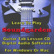 SOUNDGARDEN Guitar Tab Lesson CD Software For Windows Or Mac! 60 Songs