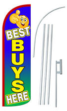 30% Wider SUPER SWOOPER BEST BUYS HERE Flutter Feather Flag Sign  Banner