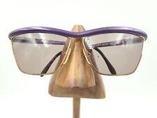 Vintage Gianfranco Ferre GFF 32/N 43L Alutanium Purple Gold Square Sunglasses
