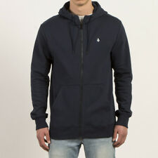 Volcom Single Stone Zip Navy 2018 Men's Hoodie Hooded Jacket Sweater S