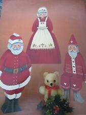 CHRISTMAS FRIENDS TOLE PAINTING BOOK MARGARET WILBURN RED BLUE SANTAS ANGELS +