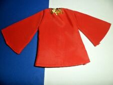 "Blouse Red Taffeta Type Wide Sleeve 12"" Doll Clothes fit Clone Tammy Darci Jem"
