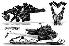 Polaris SKS Pro RMK Sled Decal Wrap Snowmobile Graphics Kit 06-10 NIGHTWOLF SLV