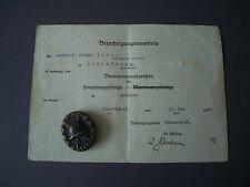 Orden Abzeichen Verwundetenabzeichen in Schwarz 1914-1918 + Besitzzeugnis