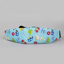 AU Stock Safety Car Seat Sleep Nap Aid Baby Kids Head Fasten Support Holder Belt Blue Cars 9a-cq0265