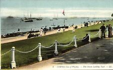Cowes (Isle of Wight). The Green Looking East by LL / Levy # 8. Coloured.