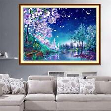 Sakura Scenery DIY 5D Diamond Embroidery Painting Cross Stitch Home Decor Craft