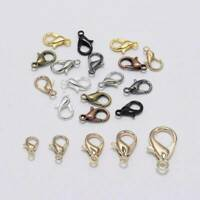 Lot 50x Alloy lobster Clasp Hooks For Necklace Bracelet Chain DIY Jewelry Making