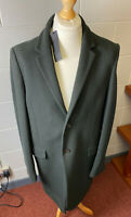 "M&S Autograph Mens Dark Green Wool Rich Coat XL 44-46"" Chest 38"" Long RP£129"