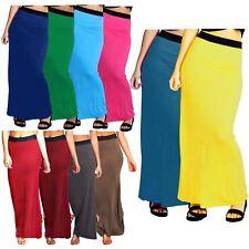 New Ladies Plus Size Full Length Gypsy Jersey Maxi Skirt Dress 8-26