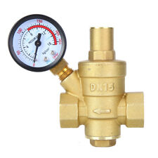 Water Pressure Reducer Valve Dn15 Brass Pressure Regulator With Gauge Meter For