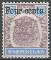 Malaya Malacca Occupation Stamp N.Semblian 1899 ☀ MH(*) HCV