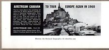 1959 Print Ad Airstream Travel Trailer Caravan Tour Europe