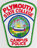 Plymouth State College Campus Police NH New Hampshire patch