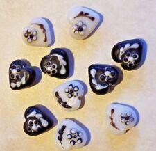20 Mm-A3976 4 piezas Corazón Murano Cuentas De Vidrio